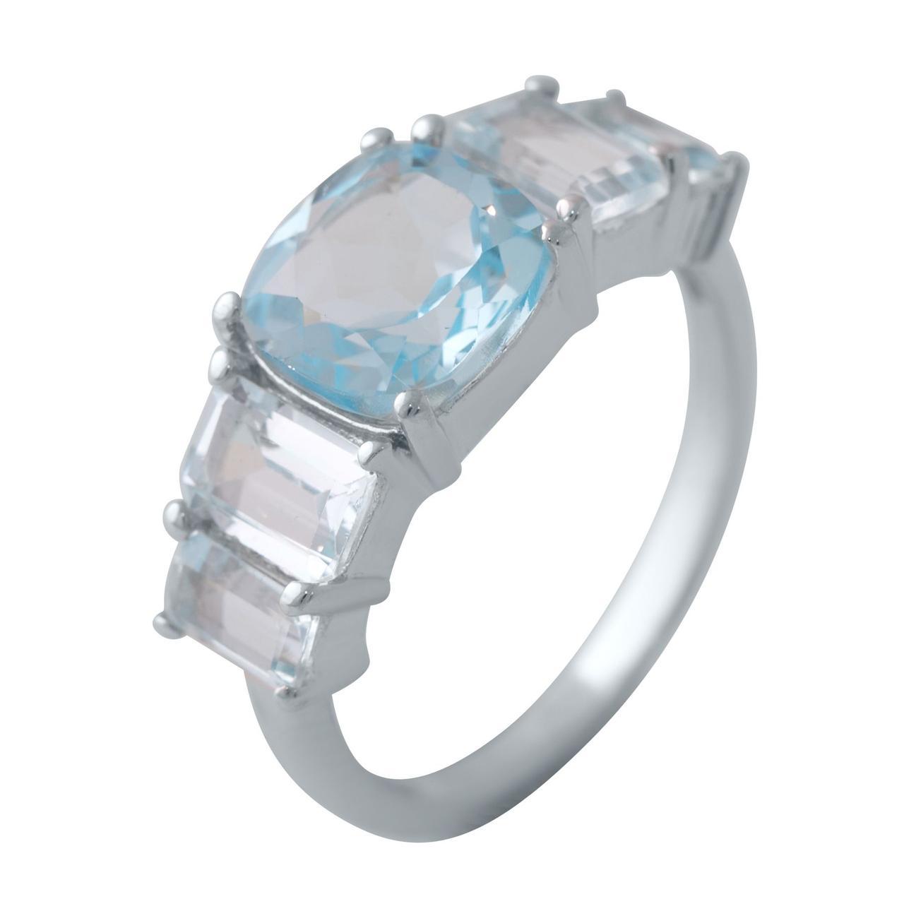 Серебряное кольцо pSilverAlex с натуральным топазом (2042563) 18 размер