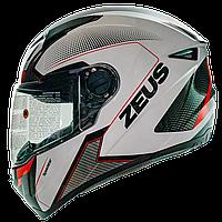 Мотошлем интеграл  ZEUS  ZS-811 White AL6 Red - белый, фото 1