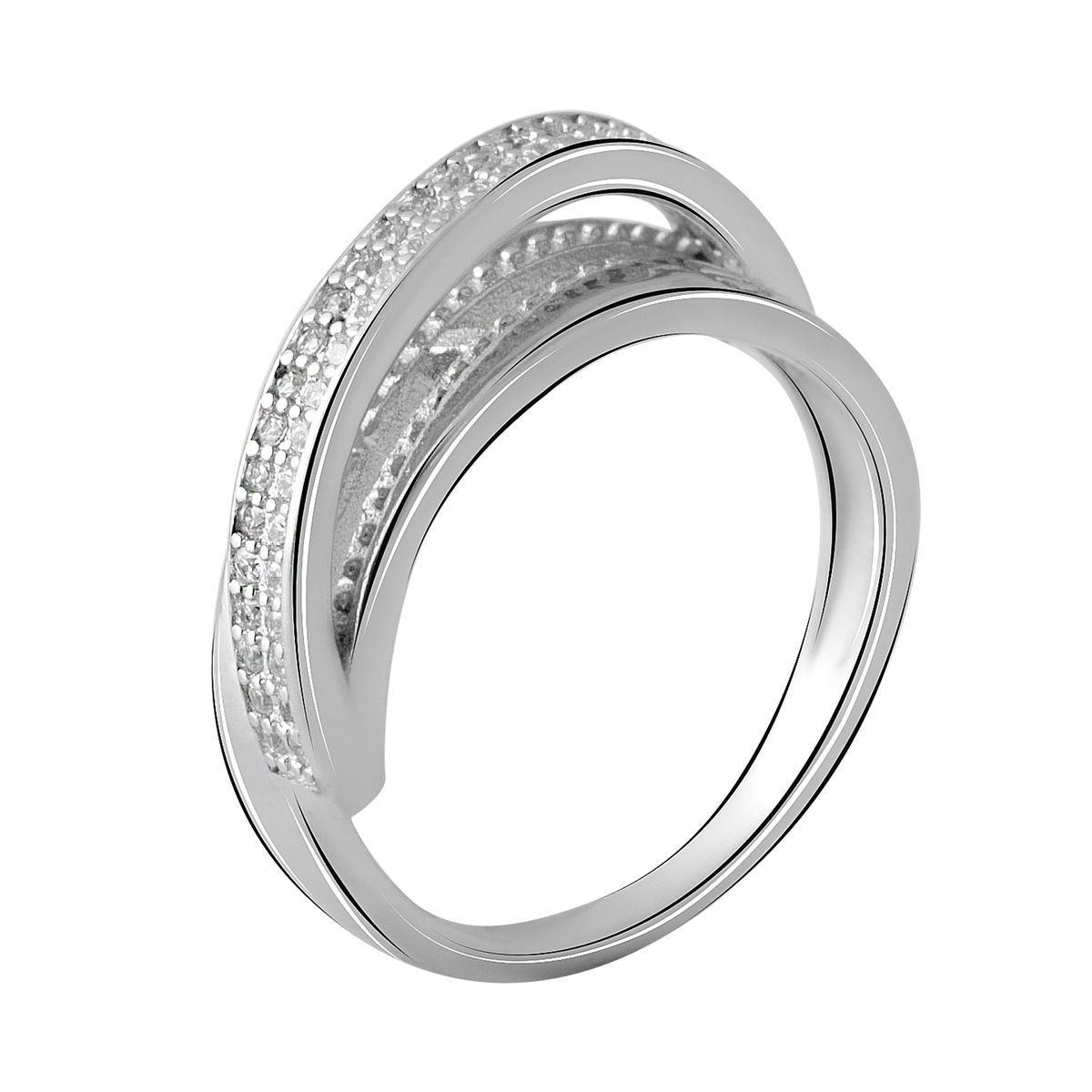 Серебряное кольцо pSilverAlex с фианитами (2048503) 19 размер 3.41, 18.5
