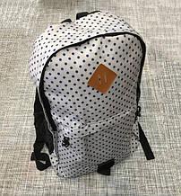 Городской рюкзак в горошек А002, рюкзак, рюкзак антивор, рюкзак с юсб