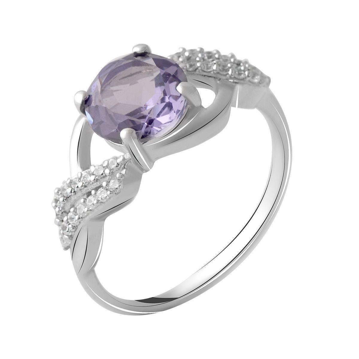 Серебряное кольцо pSilverAlex с олександритом (2050285) 18 размер 2.81, 18.5