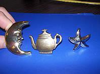 Ручки мебельные детские месяц, звезда, чайник, фото 1