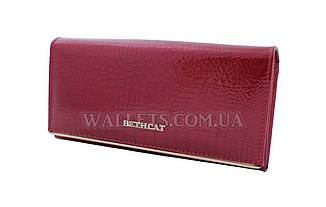 Женский кожаный кошелек BETHCAT, красный лак