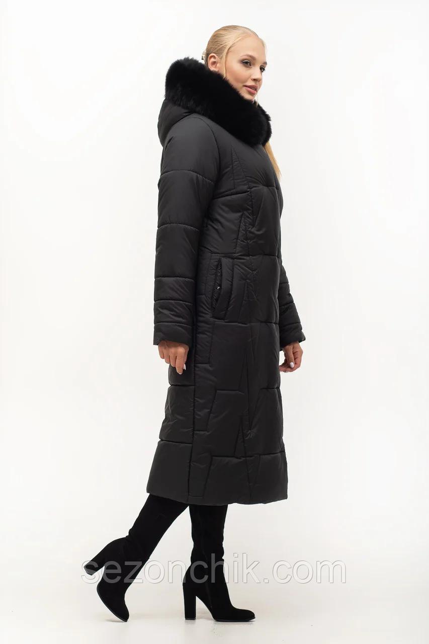 Пальто женское зимнее с мехом модное