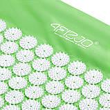 Коврик массажный акупунктурный с валиком 4FIZJO Аппликатор Кузнецова 72 x 42 см 4FJ0024 Green, фото 3