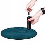 Балансировочная подушка (сенсомоторная) массажная Springos PRO FA0083 темно синяя. Диск для баланса, фото 3
