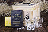 """Ящик 4MAN """"Любитель виски"""" № 4. Набор камней для виски 9 шт. Стаканы для виски. Подарок папе. Для виски набор"""