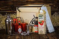 Ящик 4MAN Кровавая Мэри №1. Мужской подарочный бокс. Набор для любителей готовить коктейли. Подарок мужу