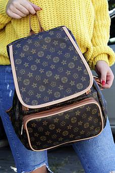 Рюкзак  LV темно-коричневый AAA 122954S