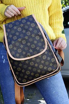 Рюкзак LV темно-коричневый AAA 122955S