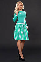 Костюм пышная  юбка в складки плюс блуза с длинным рукавом с манжетами