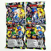 Фигурки Бравл Старс игровая карта в комплекте с фигуркой 7 см 8 героев Brawl stars Heros 30 комплект 4 шт