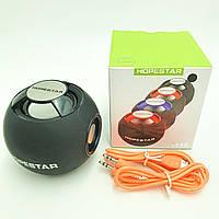 Портативная Bluetooth колонка акустическая стерео система 6 Вт мини динамик с USB и FM Hopestar H46 черный, фото 1