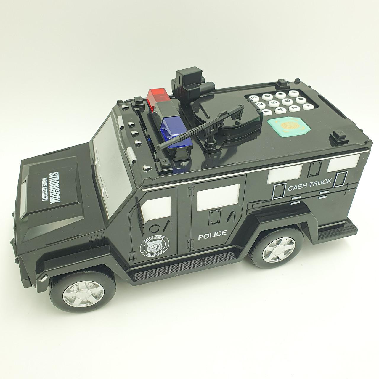 Копилка детский сейф с кодовым замком и купюроприемником для бумажных денег и монет Машинка Cach Truck Hummer