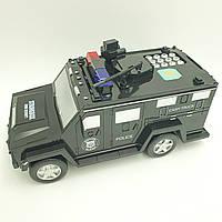 Копилка детский сейф с кодовым замком и купюроприемником для бумажных денег и монет Машинка Cach Truck Hummer, фото 1