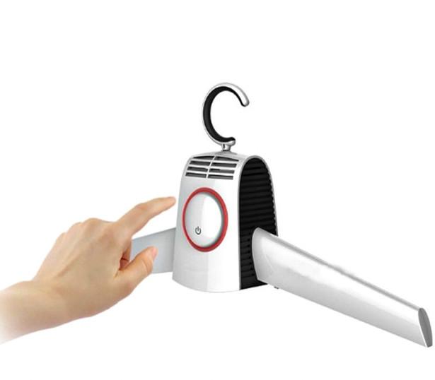 Сушилка вешалка для одежды и обуви электрическая портативная плечики Umate белый