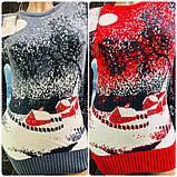 Женские теплые модные яркие свитера (Турция) оптом и в розницу, фото 2