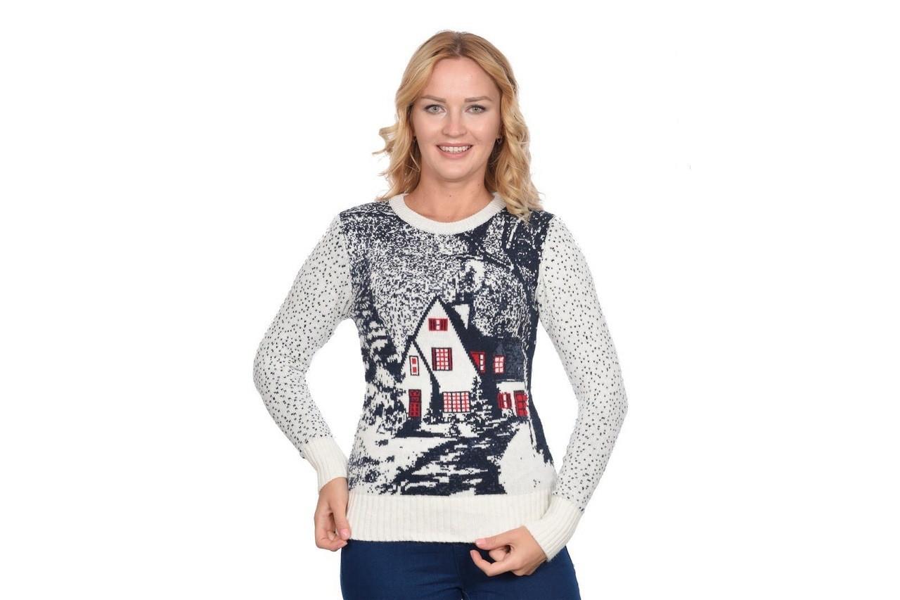 Женские зимние молодежные яркие свитера (Турция) оптом и в розницу