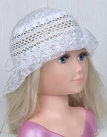 Белая шляпка Детская Панама для девочки