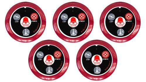 Фото Кнопки виклику офіціанта RECS R-104 Red з комплекту системи виклику RECS №131