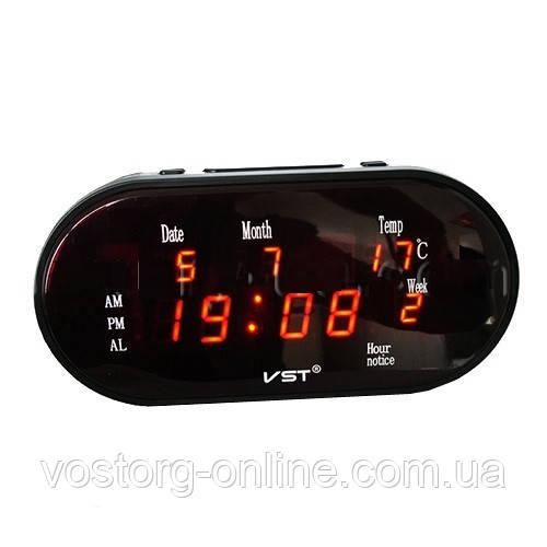 Часы сетевые 801 WX-1 красные, электронные часы, сетевые часы,часы радио 822045a04a9