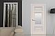 """Дверь межкомнатная остеклённая новый стиль Элегант """"Шарм Р2 ML2"""" 60,70,80,90 см, с молдингом белый матовый, фото 7"""