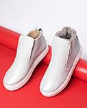 Зимние серые лаковые ботинки ( хайтопы) Ankle slip, фото 2