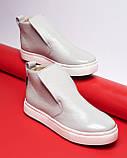 Зимние серые лаковые ботинки ( хайтопы) Ankle slip, фото 8