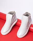 Зимние серые лаковые ботинки ( хайтопы) Ankle slip, фото 5