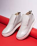 Зимние серые лаковые ботинки ( хайтопы) Ankle slip, фото 6