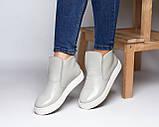 Зимние серые лаковые ботинки ( хайтопы) Ankle slip, фото 4