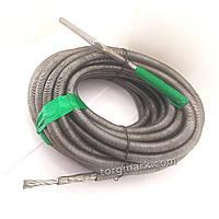 15 м, 12 мм Кріт, трос для прочищення каналізаційних труб, гнучкий та жорсткий