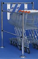 Ворота (проезды) для покупательских тележек