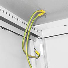 Серверна шафа IPCOM СН-6U-06-06-ДП Перфорація, Глибина-600, ширина-600 крок 25 мм, фото 2