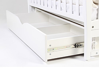 Детская кроватка Верес Соня ЛД3 Белая маятник с ящиком и резьбой ЕС, фото 2