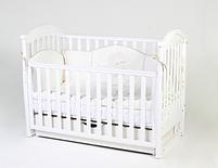 Детская кроватка Верес Соня ЛД3 Белая маятник с ящиком и резьбой ЕС, фото 3