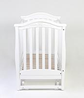 Детская кроватка Верес Соня ЛД3 Белая маятник с ящиком и резьбой ЕС, фото 4
