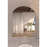 Зеркало Lidz (WHI)-140.07.02 с полкой 600х450, фото 3