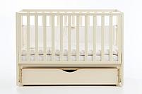 Детская кроватка Верес Соня ЛД 13 Слоновая кость маятник с ящиком, фото 2