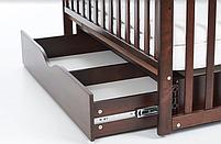 Дитяче ліжечко Верес Соня ЛД13 горіх маятник з ящиком, фото 3