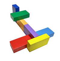 Методика Никитиных Кирпичики цветные деревянные 8 штук Вундеркинд, фото 2