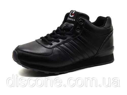Зимние кроссовки Classica унисекс, черные, на меху