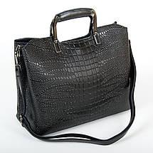 Сумка Женская Классическая кожа ALEX RAI 9-01 1540-1 black, фото 2