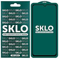 Защитное стекло SKLO 5D (full glue) для телефона Huawei Y6p