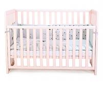 Детская кроватка Верес Соня ЛД13 Розовая без ящика, фото 3