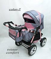 Коляска Tvister Comfort (серо - розовая), фото 1