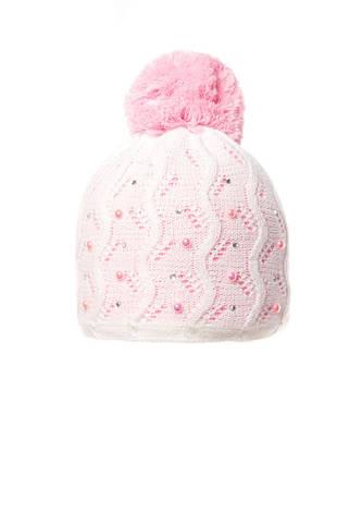Детская вязанная шапочка с бумбоном., фото 2