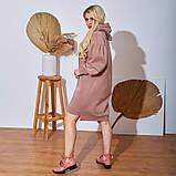 Женское Платье-Туника на флисе Батал, фото 3