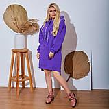 Женское Платье-Туника на флисе Батал, фото 4