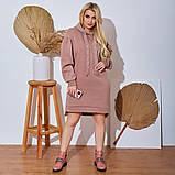Женское Платье-Туника на флисе Батал, фото 2